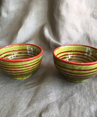 2-Green-and-Red-Stripped--Bowls