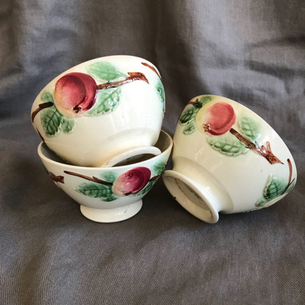 3-French-pottery-bowls-Peach-design