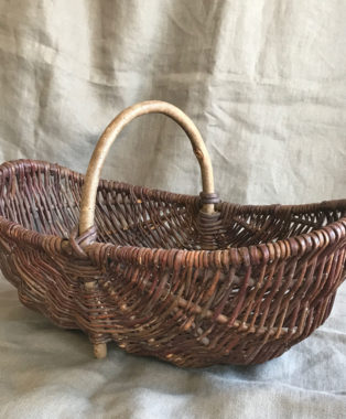 Old-Handmade-Willow-Basket