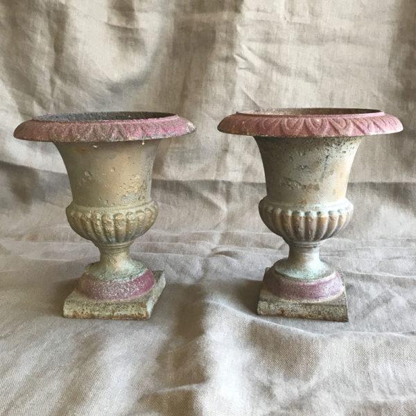 Pair-of-Cast-Iron-Urns