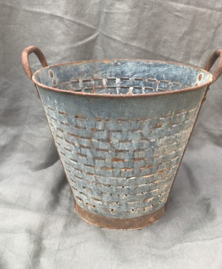 Galvanised-Steel-Olive-Picking-Bucket
