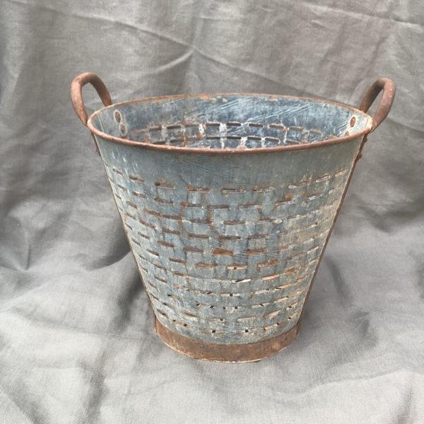 Galvanised-Steel-Olive-Picking-Bucket
